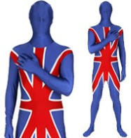 Morphsuit Union Jack - Adult Costume Fancy Dress