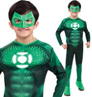 Green Lantern Hal Jordon Deluxe Light up - Child Costume Fancy Dress