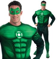 Green Lantern Hal Jordon Deluxe - Adult Costume Fancy Dress