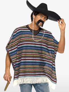Poncho - Adult Costume Fancy Dress