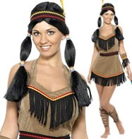 Indian Woman - Adult Costume Fancy Dress