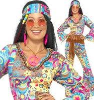 Hippie Flower Power - Adult Costume Fancy Dress