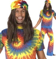 1960's Tye Dye - Adult Costume Fancy Dress