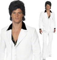 70's White Suit - Adult Costume Fancy Dress