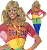 Lets Get Physical 80's Girl - Adult Costume Fancy Dress