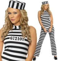 Convict Cutie - Adult Costume Fancy Dress