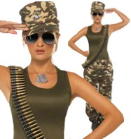 Khaki Camo - Adult Costume Fancy Dress