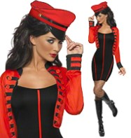 Military Popstar - Adult Costume Fancy Dress