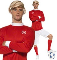 1966 Soccer Hero - Adult Costume Fancy Dress