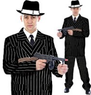 Gangster Man Black - Adult Costume Fancy Dress