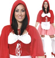 Sexy Little Miss Red Cloak - Adult Costume Fancy Dress