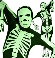 Morphsuit Skeleton Glow - Adult Costume Fancy Dress