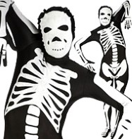 Morphsuit Skeleton Black - Adult Costume Fancy Dress