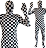 Morphsuit Check - Adult Costume Fancy Dress