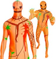 Morphsuit Pumpkin - Adult Costume Fancy Dress