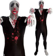 Morphsuit Zombie - Adult Costume Fancy Dress
