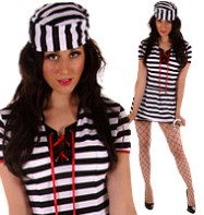 Prisoner - Adult Costume Fancy Dress