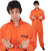 Prisoner Overalls - Adult Costume Fancy Dress