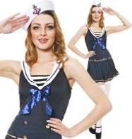 Sexy Sailor Blue - Adult Costume Fancy Dress