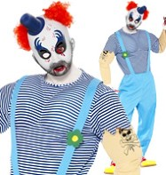 Bubbles The Clown - Adult Costume Fancy Dress