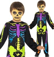 Punky Neon Skeleton - Toddler Costume Fancy Dress
