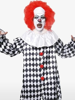 Scary Clown - Adult Costume Fancy Dress