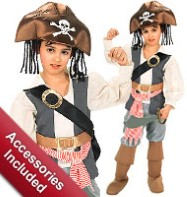 Pirate Captain - Child Costume Fancy Dress