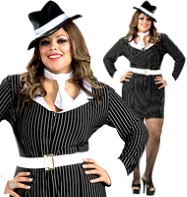 Gangster Queen - Adult Costume Fancy Dress