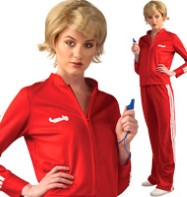 Glee Red Track Suit - Adult Costume Fancy Dress
