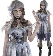 Zombie Pirate Lady - Adult Costume Fancy Dress