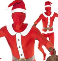 Santa Bodysuit - Adult Costume Fancy Dress