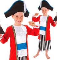 Captain Pirate - Child Costume Fancy Dress