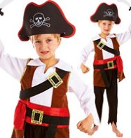 Treasure Pirate - Child Costume Fancy Dress