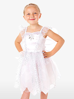 White Snowflake Fairy - Child Costume Fancy Dress