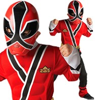 Power Rangers Red Samurai Muscle Chest - Child Costume Fancy Dress