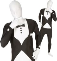 Morphsuit Tuxedo Black - Adult Costume Fancy Dress
