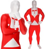Morphsuit Tuxedo Red - Adult Costume Fancy Dress