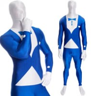 Morphsuit Tuxedo Blue - Adult Costume Fancy Dress