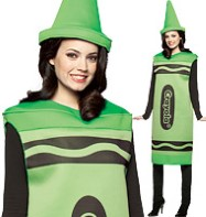 Crayola Crayon Dress Green - Adult Costum Fancy Dress