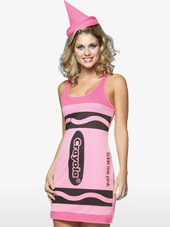 Crayola Crayon Dress Pink