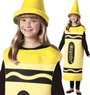 Crayola Crayon Yellow - Child Costume Fancy Dress