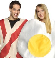 Couples Bacon and Egg - Adult Costume Fancy Dress