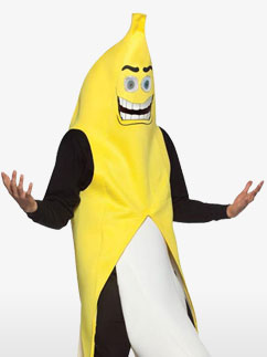 Our banana flasher costume is a hilarious Halloween costume for adults. Get this funny banana costume for Halloween and sure to get laughs at your party.