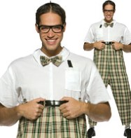 Nerd - Adult Costume Fancy Dress