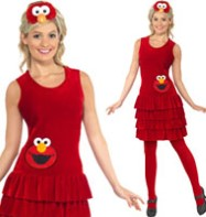 Sesame Street Elmo Dress - Adult Costume Fancy Dress