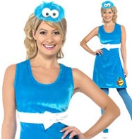 Sesame Street Cookie Monster - Adult Costume Fancy Dress