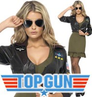 Sexy Top Gun - Adult Costume Fancy Dress