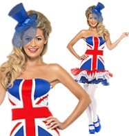 Rule Britannia Tutu - Adult Costume Fancy Dress