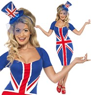 Royal Britannia Dress - Adult Costume Fancy Dress