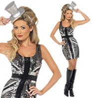 Rule Britannia Diamond Dress - Adult Costume Fancy Dress